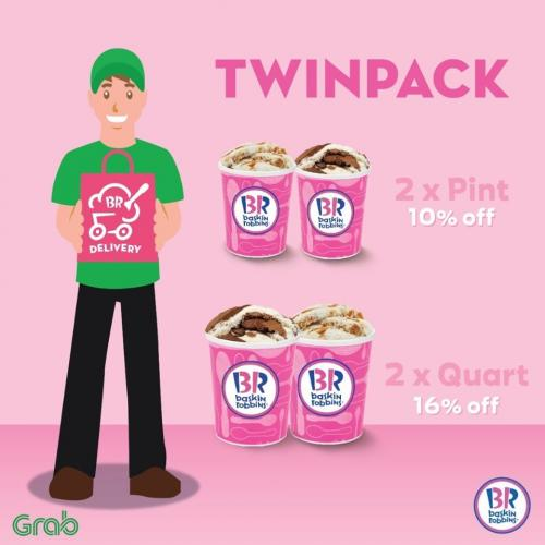 Baskin Robbins Twinpack Promotion on GrabFood