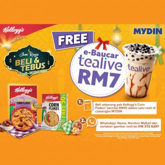 MYDIN Kellogg's Corn Flakes FREE Tealive Voucher Promotion (1 April 2020 - 31 May 2020)
