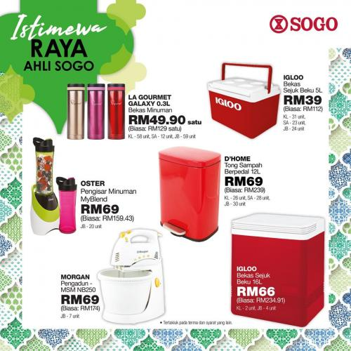 SOGO Members Raya Special PWP Promotion (22 May 2020 - 24 May 2020)