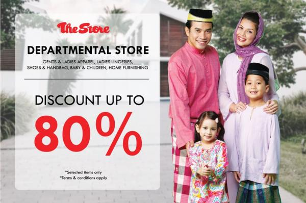 The Store Departmental Store Promotion Discount Up To 80% (valid until 27 May 2020)