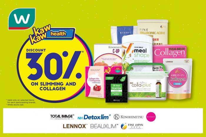 Watsons Slimming And Collagen Products Promotion Discount 30 29