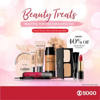 SOGO Revlon Cosmetics and Fragrances Sale 40% OFF (valid until 28 June 2020)