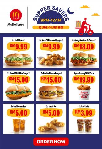 McDonald's McDelivery Supper Savers Promotion Discount Up To 50% (25 June 2020 - 14 July 2020)