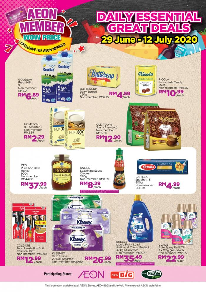 AEON Member Wow Price Promotion (29 June 2020 - 12 July 2020)