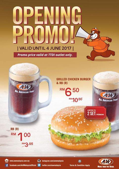 A&W Opening Promotion at TTDI Outlet