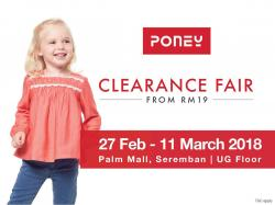 Poney Clearance Fair from RM19 (27 February 2018 - 7 March 2018)