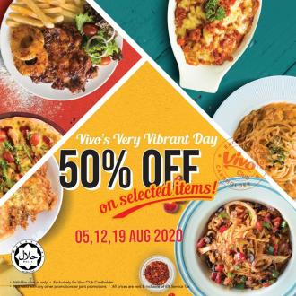 Vivo Pizza Very Vibrant Day 50% OFF Promotion (5, 12 & 19 July 2020)