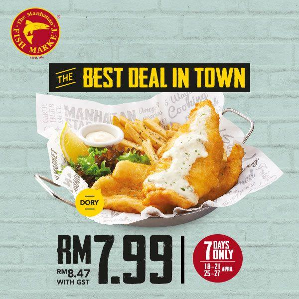 The Manhattan FISH MARKET Fish 'N Chips at RM7.99 Promotion