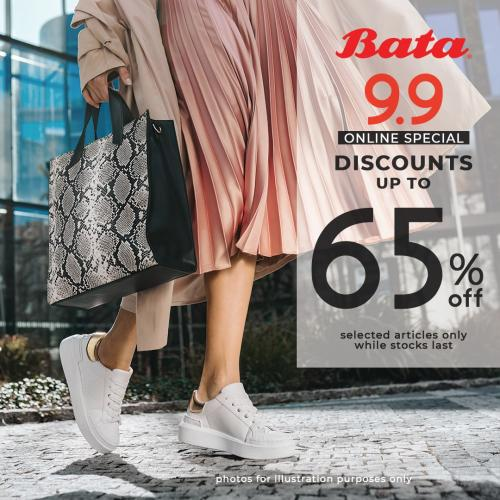 Bata 9.9 Online Sale Up To 65% OFF (9 September 2020)
