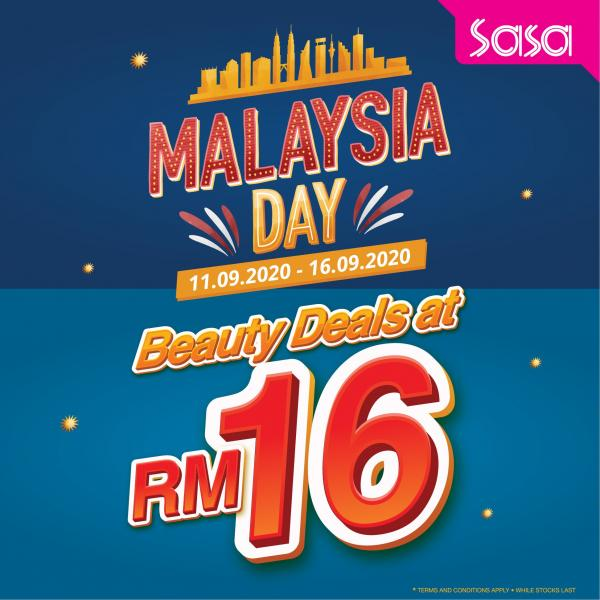 Sasa Malaysia Day Beauty Deals @ RM16 Promotion (11 September 2020 - 16 September 2020)