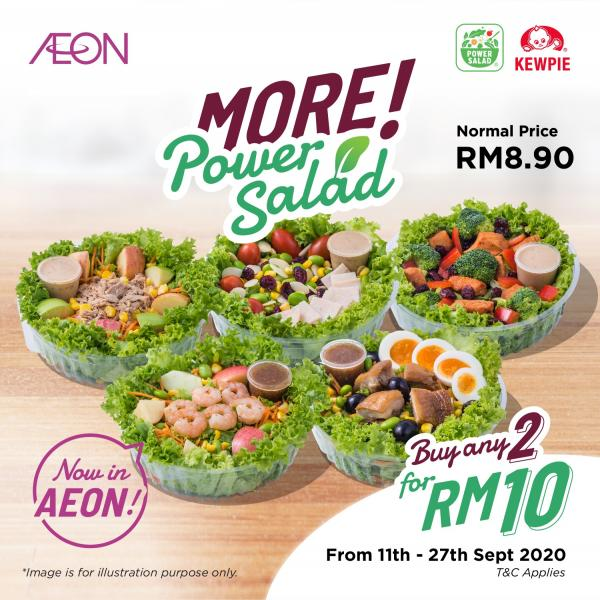 AEON Power Salad 2 Bowls @ RM10 Promotion (valid until 27 September 2020)