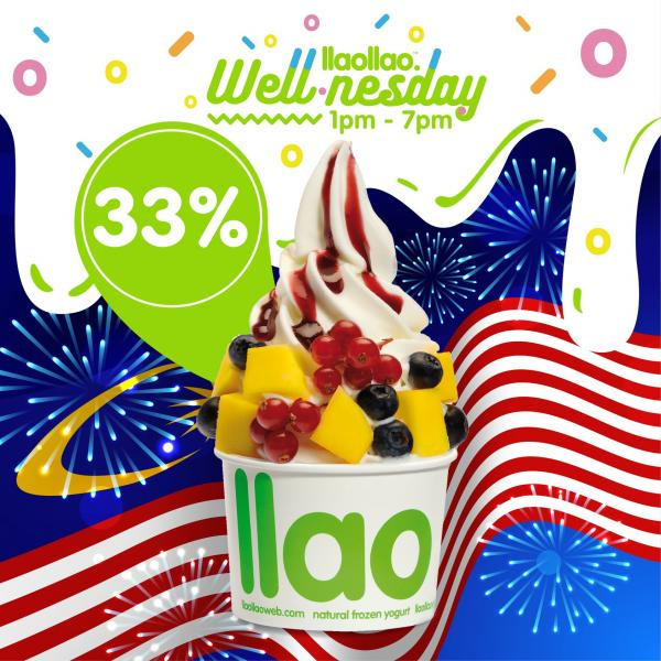 llaollao Wednesday Promotion Discount 33% OFF (16 September 2020)