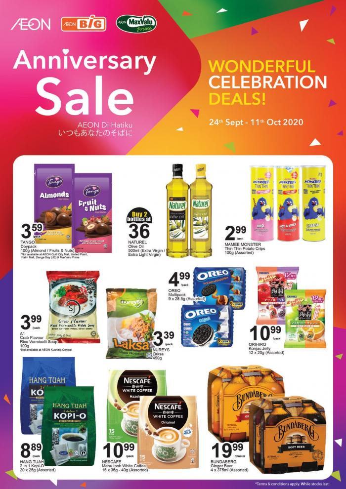 AEON BiG Anniversary Sale Promotion (24 September 2020 - 11 October 2020)