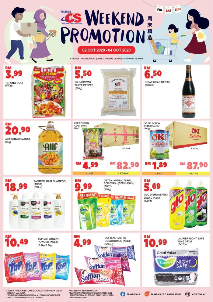 Pasaraya CS Weekend Promotion (2 October 2020 - 4 October 2020)