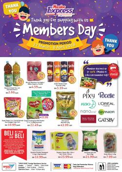 Maslee Express Members Day Promotion (22 March 2018 - 8 April 2018)