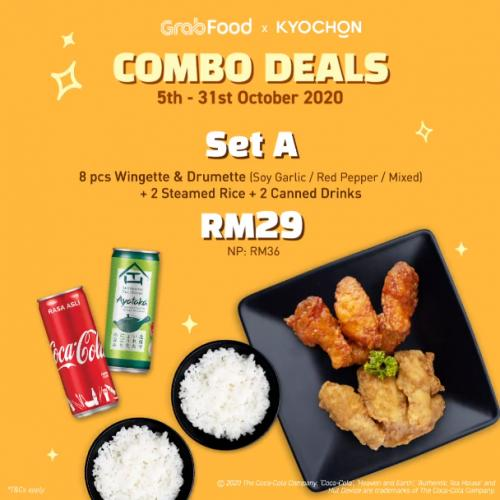 Kyochon Combo Deals Promotion on GrabFood (5 October 2020 - 31 October 2020)