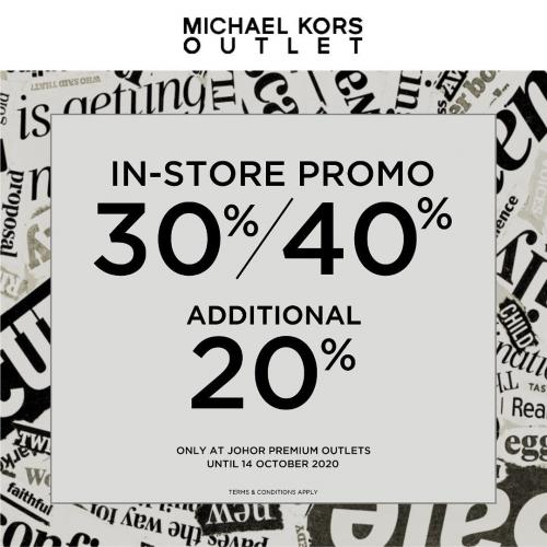 Michael Kors In-Store Promotion at Johor Premium Outlets (8 October 2020 - 14 October 2020)