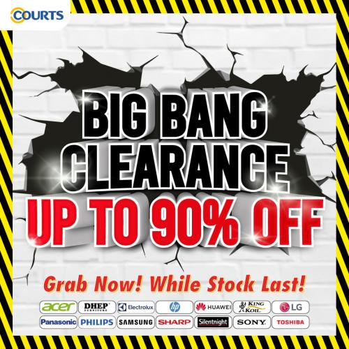 COURTS Big Bang Clearance Sale Up To 90% OFF (valid until 27 October 2020)