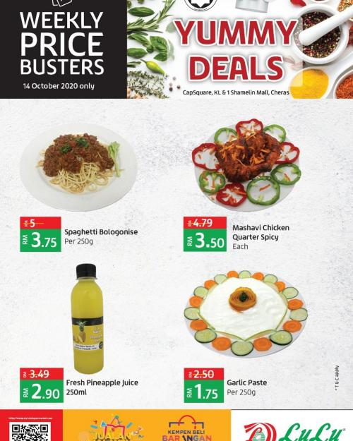 LuLu Hypermarket Yummy Deals Promotion (14 October 2020)