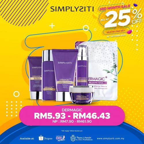 Simplysiti Mid Month Sale 25% OFF (15 October 2020)