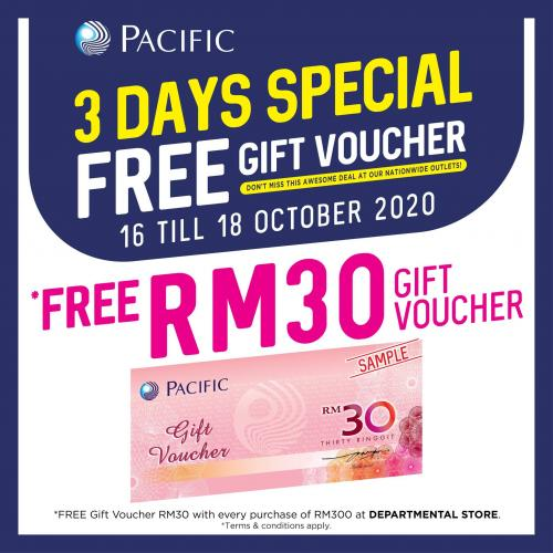 Pacific Hypermarket Free Voucher Promotion (16 October 2020 - 18 October 2020)