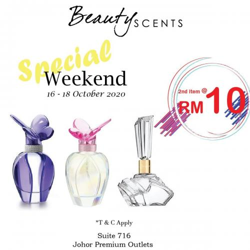 Beauty Scents Weekend Sale 2nd Item @ RM10 at Johor Premium Outlets (16 October 2020 - 18 October 2020)