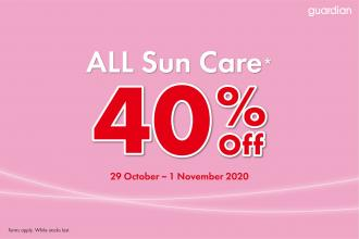 Guardian Sun Care Promotion 40% OFF (29 October 2020 - 1 November 2020)