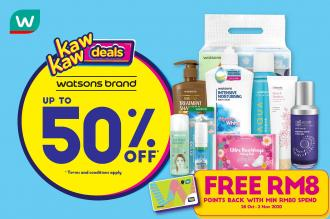 Watsons Brand Products Sale Up To 50% OFF (28 October 2020 - 2 November 2020)
