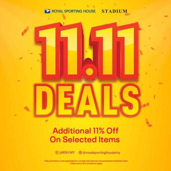 Royal Sporting House 11.11 Sale Additional 11% OFF (11 November 2020)