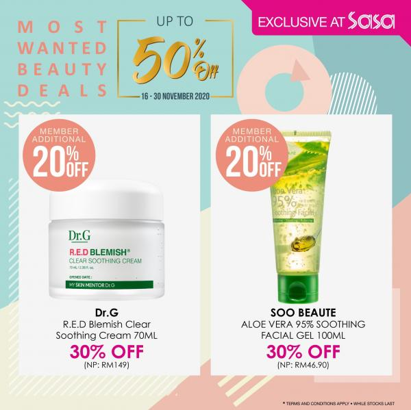Sasa Most Wanted Beauty Deals Promotion Up To 50% OFF (16 November 2020 - 30 November 2020)