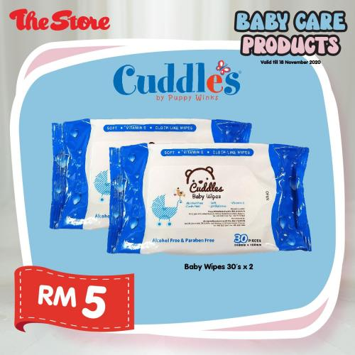 The Store Baby Care Products Promotion As Low As RM5 (valid until 18 November 2020)
