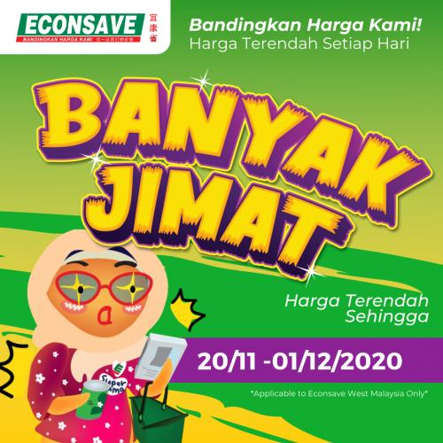 Econsave Banyak Jimat Promotion (20 November 2020 - 1 December 2020)