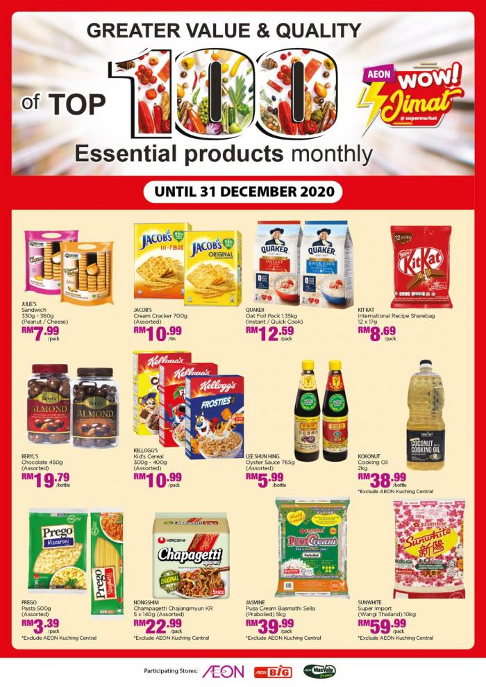AEON Top 100 Essential Products Promotion (1 December 2020 - 31 December 2020)