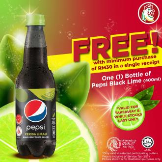 The Chicken Rice Shop FREE Pepsi Black Lime Promotion