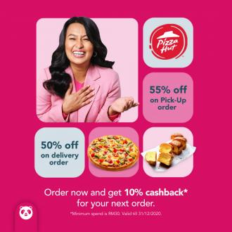 Pizza Hut Promotion Up To 55% OFF on FoodPanda (valid until 31 December 2020)