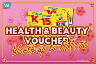 Watsons FREE Health and Beauty Vouchers Promotion (valid until 28 February 2021)