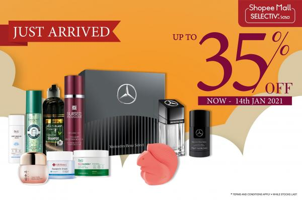 SaSa New Products Promotion Up To 35% OFF on Shopee (valid until 14 January 2021)
