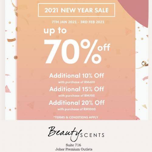 Beauty Scents 2021 New Year Sale Up To 70% OFF at Johor Premium Outlets (7 January 2021 - 3 February 2021)