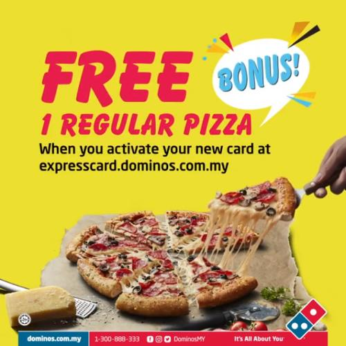 Domino's Pizza VIP Express Card Promotion FREE Regular Pizza (valid until 31 December 2021)