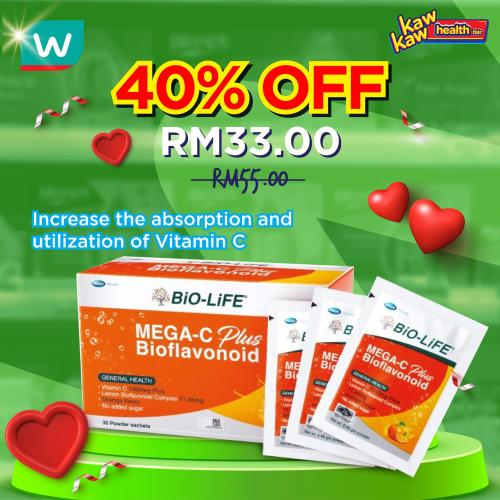 Watsons Health Care Sale Up To 40% OFF (10 February 2021 - 15 February 2021)
