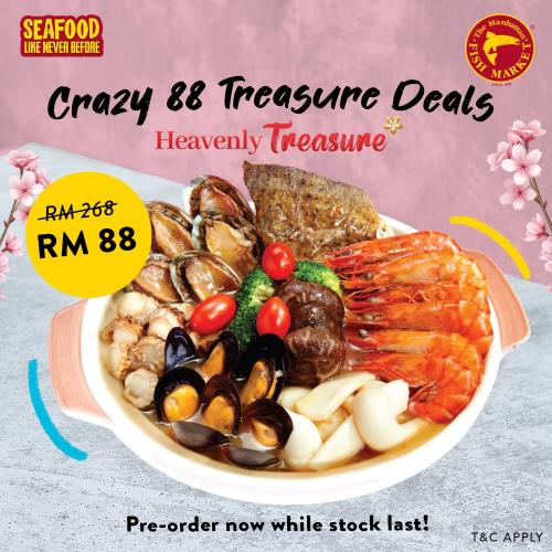 Manhattan Fish Market CNY Crazy 88 Treasure Deal Promotion (valid until 16 February 2021)