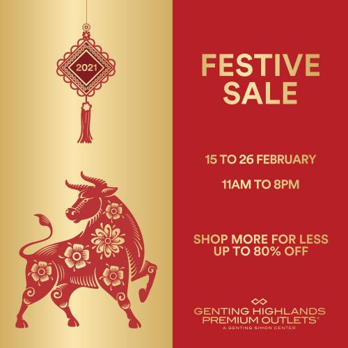 Genting Highlands Premium Outlets CNY Festive Sale (15 February 2021 - 26 February 2021)