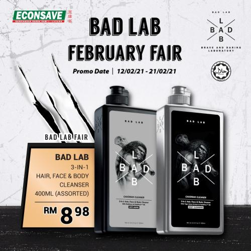 Econsave Bad Lab February Fair Promotion (12 February 2021 - 21 February 2021)