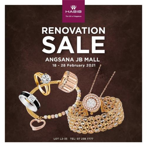 HABIB Angsana JB Mall Renovation Sale Up To 70% OFF (18 February 2021 - 28 February 2021)