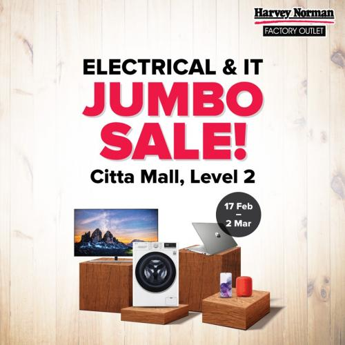 Harvey Norman Citta Mall Electrical & IT Jumbo Sale (valid until 2 March 2021)