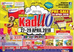 UO SuperStore Ipoh Kad UO Member Promotion (27 April 2018 - 29 April 2018)