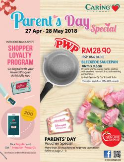 CARiNG PHARMACY Parents' Day Special Catalogue (27 April 2018 - 28 May 2018)