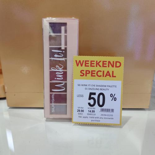 AEON Wellness Cosmetics Weekend Promotion Up To 50% OFF (29 April 2021 - 2 May 2021)