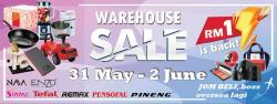 Sinma Warehouse Sale Price As Low As RM1 (31 May 2018 - 2 June 2018)