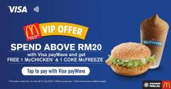 McDonald's FREE 1 McChicken & 1 Coke McFreeze with Visa payWave (14 June 2018 - 31 July 2018)